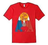 Cute Twin Bibi Bear Two Cubs Little Bears Shirts Red