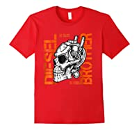Diesel Power Truck Turbo Brothers Mechanic Shirts Red