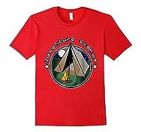 Adventure Seeker T Shirt Camping Outdoor Travel Red