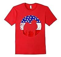 American Flag Japanese Chin Japanese Chin Dog Shirts Red
