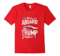 Trump Supporter Shirt All Aboard The Trump Train 2020 Gift Tank Top Red