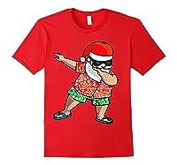 Dabbing Santa Christmas In July Hawaiian Shirt Gift Red