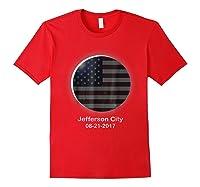 Solar Eclipse Shirt Jefferson City Mo American Flag Red