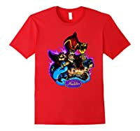 Disney Aladdin Main Cast Collage Portrait Logo Premium T-shirt Red