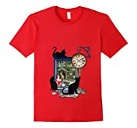 Steampunk Vintage The Clock Maker Shirts Red
