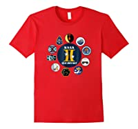 Project Gemini Missions Patch Badge Nasa Shirts Red