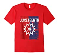 Junenth Black American African History Freedom Day Shirts Red
