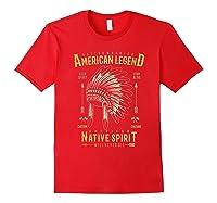 Native American Warrior, Indian Native Spirit Shirts Red