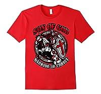 Knights Templar Tshirt Son Of God Warrior Of Christ Red