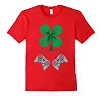 Video Game Gaming St Patricks Day Gamer For Shirts Red