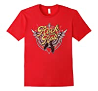 Rock Roll Guitar Wings School Of Rock Music Shirts Red