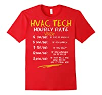 Tech Hourly Rate Chalk Style Best Gift Shirts Red