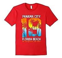 Pa City Beach 2018 Florida T Shirt Beach Lovers Gift Red