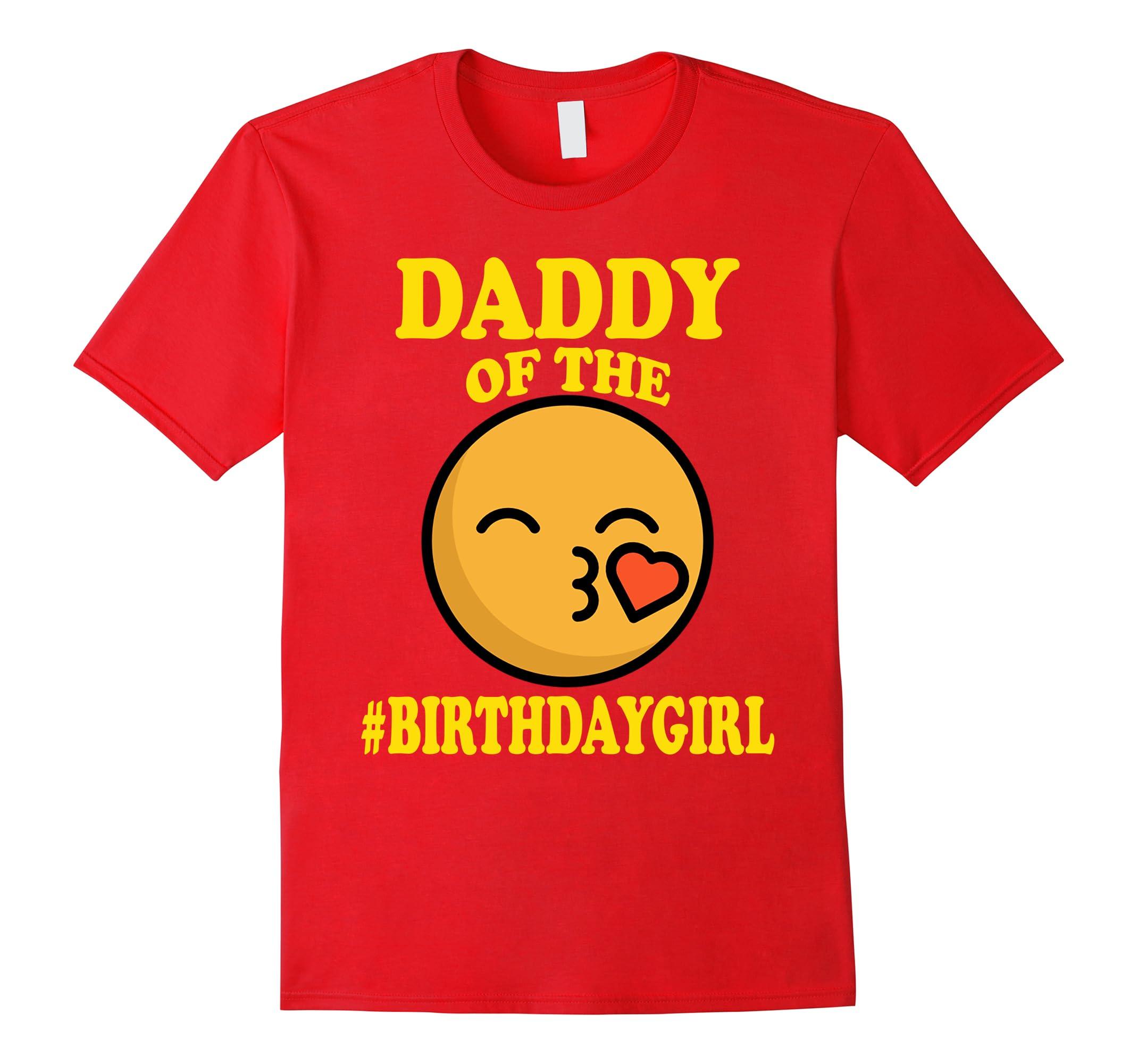 Daddy Birthday Emoji T Shirt Dad-Teesml