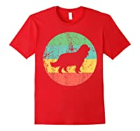 Cavalier King Charles Spaniel Retro Dog Shirts Red
