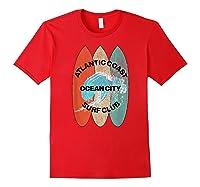 Atlantic Coast Surf Club Ocean City New Shirt T Shirt Red