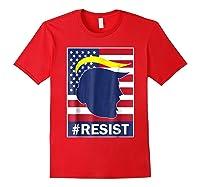 Resist Protest Rebel Political Anti Trump Impeach T Shirt Red