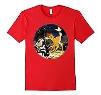 Disney Bambi Forest Scene T Shirt Red