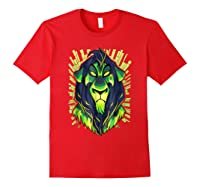 Lion King Evil Scar Graphic Shirts Red