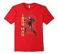 Marvel Avengers Assemble Iron Man Tech Graphic T-shirt Red