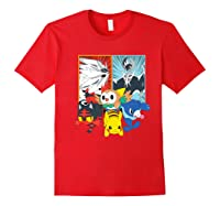 Alola Starters With Legendaries Shirts Red