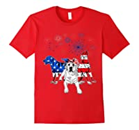 Labrador 4th Of July America Flag Gifts Shirts Red