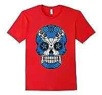 Scottish Flag Sugar Skull Shirts Red