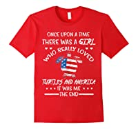 Once Upon A Time Turtle America 4th Of July T Shirt Gifts Red