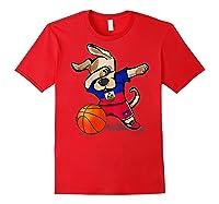 Dog Dabbing Haiti Basketball Haitian Sport Team Shirts Red