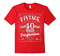 Vintage 40th Birthday Shirt, 1979, Aged To Perfection Red