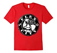 Flex City Feed Me More Nutrition T Shirt Red