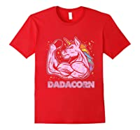 Father's Day Gif Funny Dadacorn Shirts Red