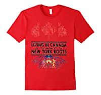Living In Canada With New York Roots Ny Shirts Red