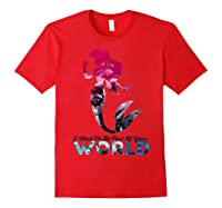 Disney Little Mermaid Your World Graphic T-shirt Red