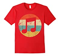 Musician Retro Musical Notes T-shirt Red