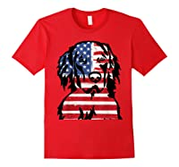 Funny Hovawart American Flag 4th Of July Shirts Red