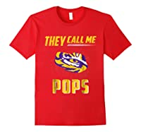 Lsu Tigers They Call Me Pops T-shirt - Apparel Red