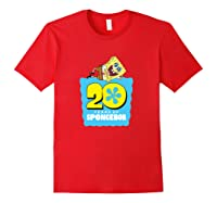 Spongebob Squarepants 20 Years Of Spongebob T-shirt Red