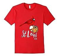 Saint Louis Red Cardinal Shirt 2019 Bird Player Red