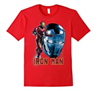Avengers Endgame Iron Man Side Profile Graphic Shirts Red