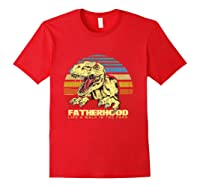 Fatherhood Like A Walk In The Park Father's Day Gif Shirts Red