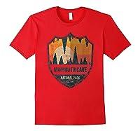 Mammoth Cave National Park Kentucky Emblem Shirts Red
