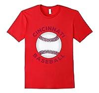 Classic Cincinnati Baseball Fan Retro Shirts Red