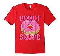 Pink Donut Squad Birthday Shirts Red