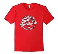 Leavenworth Washington Retro Vintage City Mountains T Shirt Red