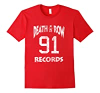 Death Row Records Athletic 91 Distressed T-shirt Red
