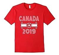 Retro Canada Soccer Team 2019 Shirts Red