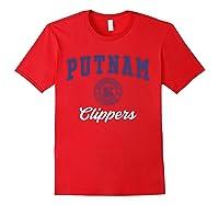 Putnam High School Clippers T-shirt C3 Red