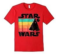 S Darth Vader Retro Stripes Baby Death Star Shirts Red