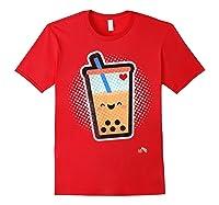 Boba Milk Tea Bubbles T-shirt Red
